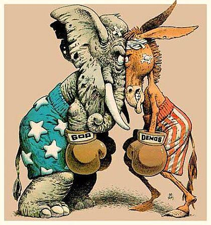 Image result for donkey versus elephant